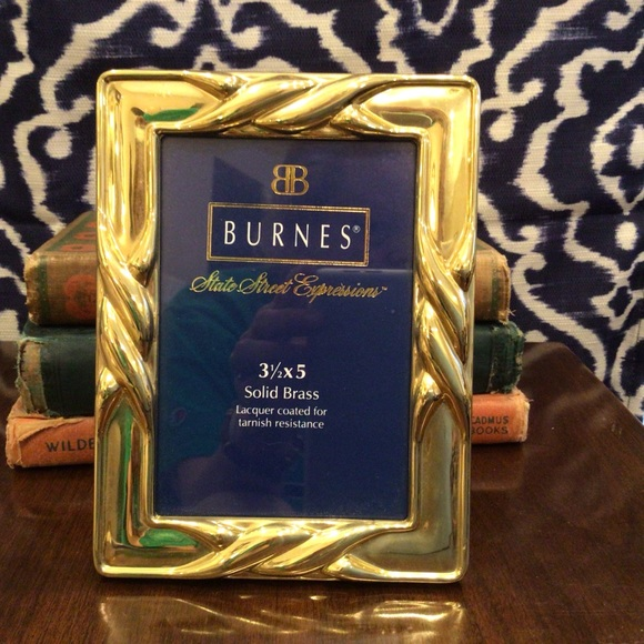 Classic Vintage Solid Brass Burnes of Boston Frame